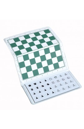 "US Chess Giant Checkbook Magnetic Travel Chess Set - 12"" x 12"" Board"