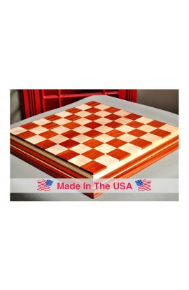 "Signature Contemporary IV Luxury Chess board - BLOODWOOD / CURLY MAPLE - 2.5"" Squares"
