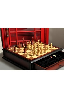 The Reykjavik II Series Library Chess Set and Tiroir Combination