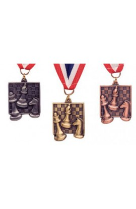Square Chess Medals