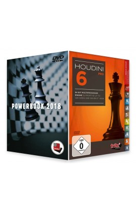 Houdini 6 Chess Playing Software - PROFESSIONAL EDITION with Powerbook 2018