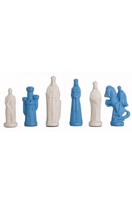 "The Camelot Series Luxury Porcelain Chess Pieces - 5.0"" King"