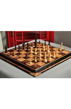 "IMPERFECT -  The Philidor Series Chess Pieces - 4.0"" King - Tasmanian Blackwood & Natural Boxwood"