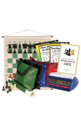 Scholastic Chess Club Starter Kit - For 20 Members - With DGT North American Chess Clocks