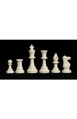 "Single Weighted Regulation Plastic Chess Pieces - 3.75"" King"