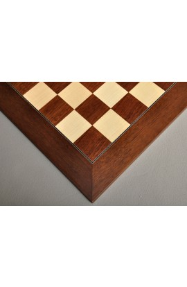 Montgoy Palisander and Bird's Eye Maple Traditional Chess Board
