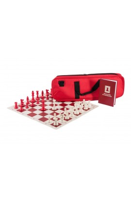 The Chess Player's Color Combination - Triple Weighted Regulation Pieces | Vinyl Chess Board | Deluxe Bag | Luxe Scorebook