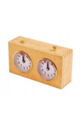 Regulation Wooden Mechanical Chess Clock