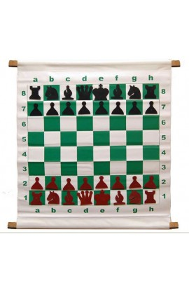 "28"" Magnetic-Style Chess Demonstration (Teaching) Board Set with Deluxe Carrying Bag"