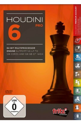 Houdini 6 Chess Playing Software Program - PROFESSIONAL EDITION