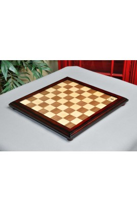 """Walnut and Maple Classic Traditional Chess Board - 1.875"""" Squares w logo"""