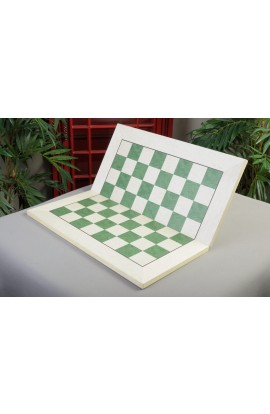 "IMPERFECT - Bird's Eye Maple and Greenwood Folding Standard Traditional Chess Board - 2.25"" Squares"