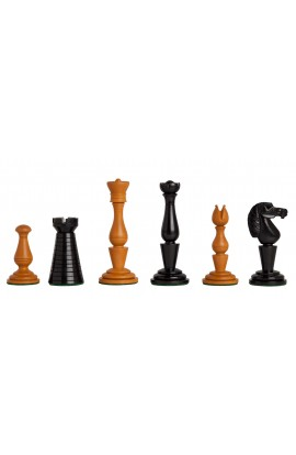 """The Strand Series Timeless Chess Pieces - 4.4"""" King - Antiqued Boxwood"""