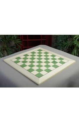 "IMPERFECT - Bird's Eye Maple and Greenwood Standard Traditional Chess Board - Satin Finish 2.375"" Squares"