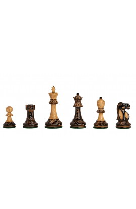 """The Burnt Reykjavik II Series Chess Pieces - 3.75"""" King"""