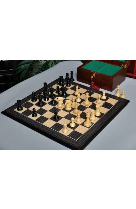 The Library Imperial Collector Series Chess Set, Box, & Board Combination