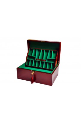 The House of Staunton *NEW* Fitted Coffer Chess Box - Red Burl