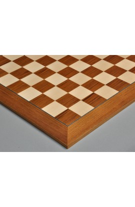 Teak and Bird's Eye Maple Standard Traditional Chess Board