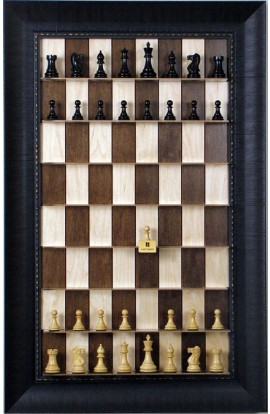 Straight Up Chess Board - Maple Nut Series with Rugged Expresso Frame