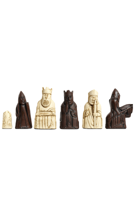 """The Isle of Lewis Chess Pieces - 3.5"""" King - BROWN & NATURAL"""