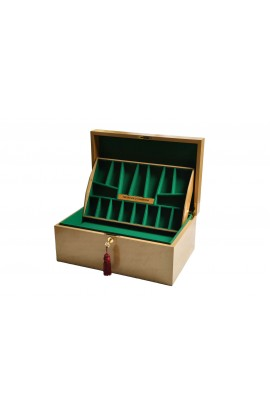 The House of Staunton *NEW* Fitted Coffer Chess Box - Bird's Eye Maple