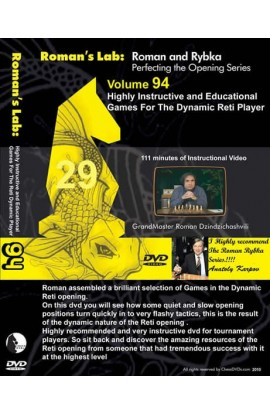 E-DVD ROMAN'S LAB - VOLUME 94 - Highly Instructive & Educational Games for the Dynamic Reti Player
