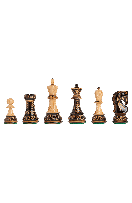 """The Burnt Zagreb '59 Series Chess Pieces - 3.875"""" King"""