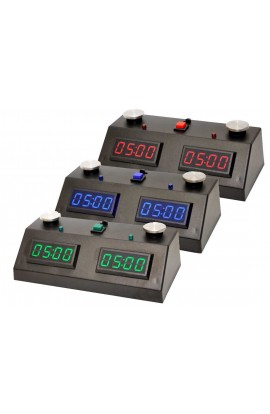 ZMart Fun II Digital Chess Clock with Black Exterior