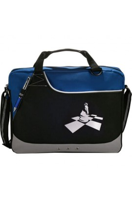 Deluxe Day Brief Bag with Knight on Board design