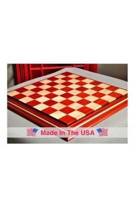 "Signature Contemporary II Chess Board - Padauk/ Curly Maple - 2.5"" Squares"