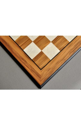 Olivewood and Bird's Eye Maple Standard Traditional Chess Board