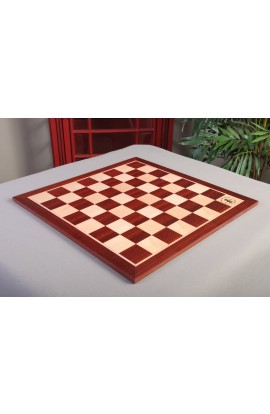 "IMPERFECT - Padauk & Maple Wooden Tournament Chess Board – 2.25"" Squares - w/ Logo"