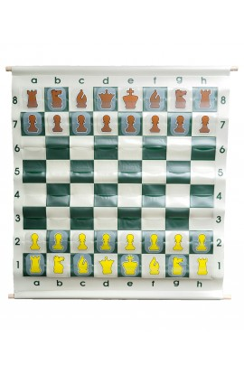 "36"" Pouch-Style Chess Demonstration (Teaching) Board Set with Deluxe Carrying Bag"