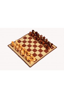 The Passport Travel Magnetic Chess Set with Wood Pieces - Large Size