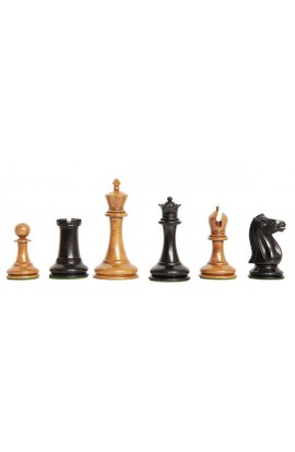 "The Genuine Staunton Collection - Leuchars Series Vintage Luxury Chess Pieces - 3.5"" King"
