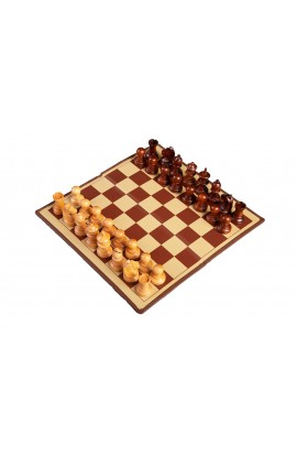 The Passport Travel Magnetic Chess Set with Wood Pieces - Standard Size