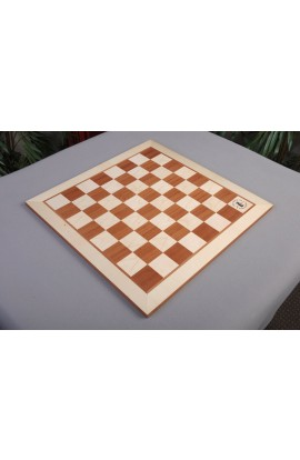 "IMPERFECT - Maple and Mahogany Wooden Tournament Chess Board - 2.0"" Squares - w/Logo"