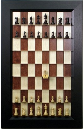 Straight Up Chess Board - Red Maple Series with Flat Black Frame