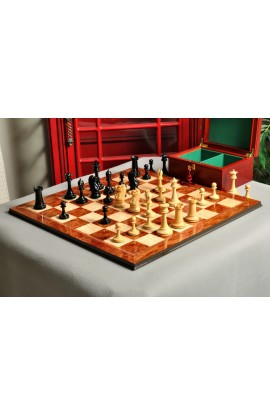 """The B & Co. Series  Chess Set, Board & Box Combination - 4.4"""" King"""