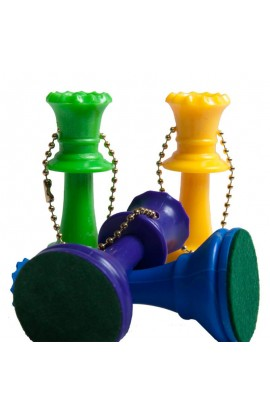 Plastic Chess Pieces Key Chains - Color Queen