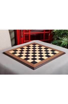 "Blackwood and Maple Superior Traditional Chess Board - 2.25"" Squares"