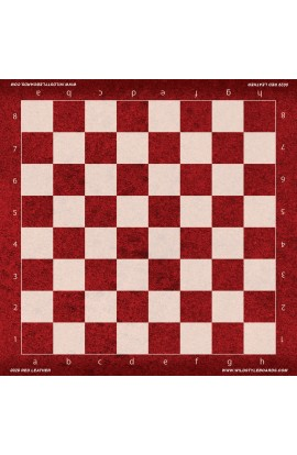 Red Leather - Full Color Vinyl Chess Board