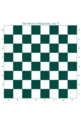 "The House of Staunton, Inc. Vinyl Tournament Chess Board - 2.25"" Squares"