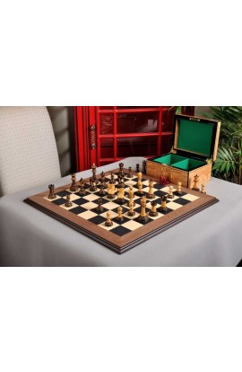 The Burnt Reykjavik II Series Chess Set, Box, & Board Combination