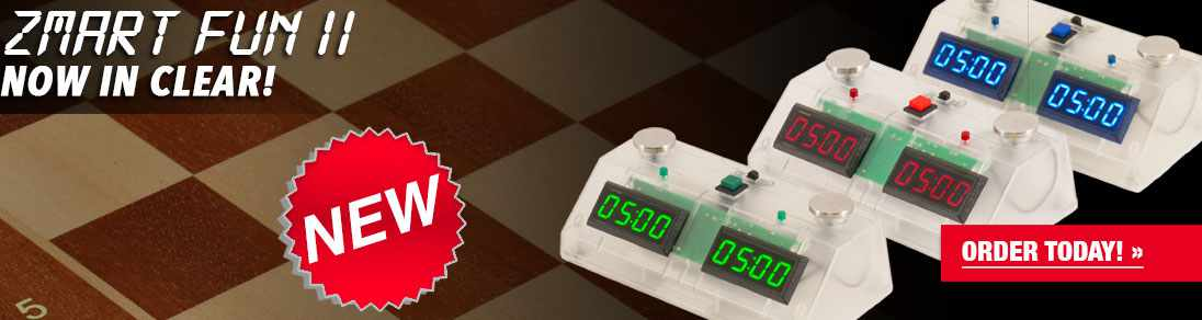 ZMart Fun II Digital Chess Clock with clear Exterior