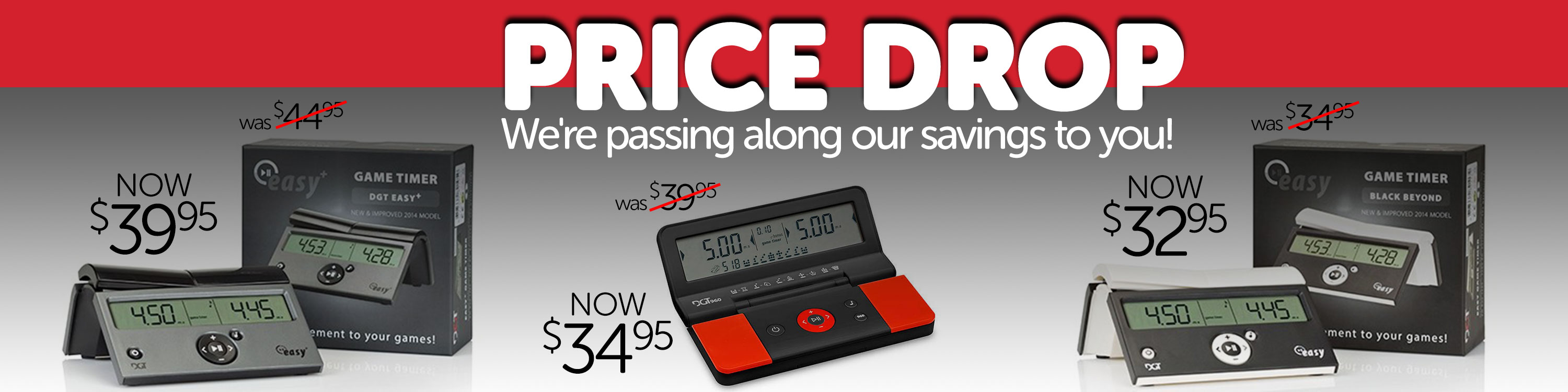 Lower Prices on DGT Clocks