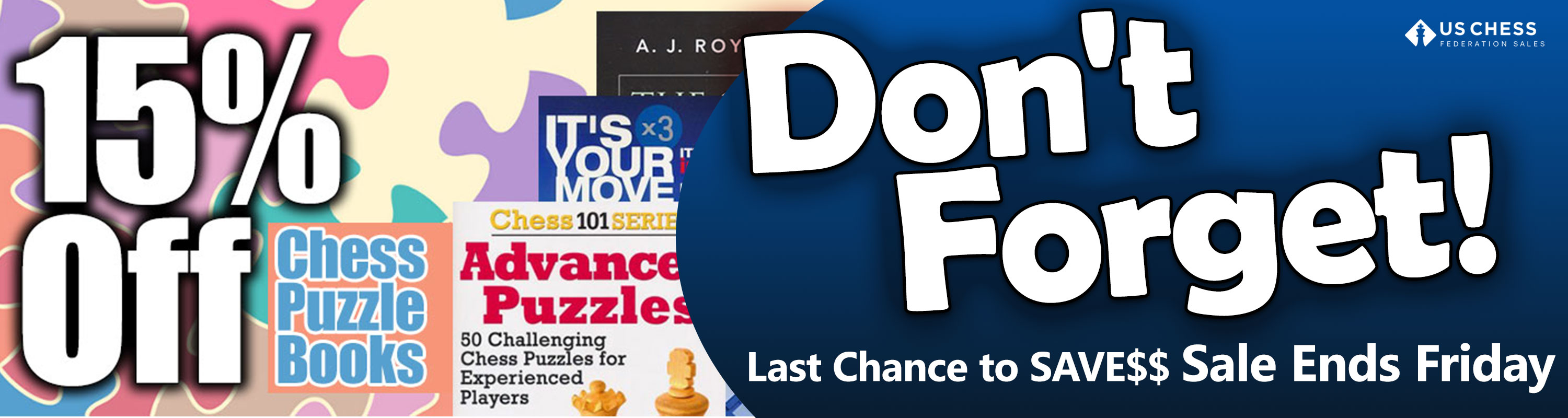 Save 15% on Chess Puzzle Books - Sale Ends Friday