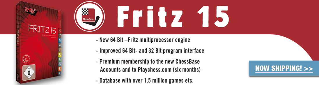 Featuring a database with over 1.5 million games, order the NEW Fritz 15 today at USCF Sales!