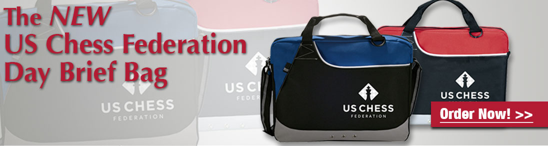 Order the NEW US Chess Federation Day Brief Bag today at USCF Sales!