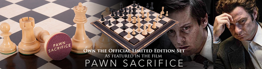 Own the limited edition commemorative chess pieces featured in the film Pawn Sacrifice now available at USCF Sales!